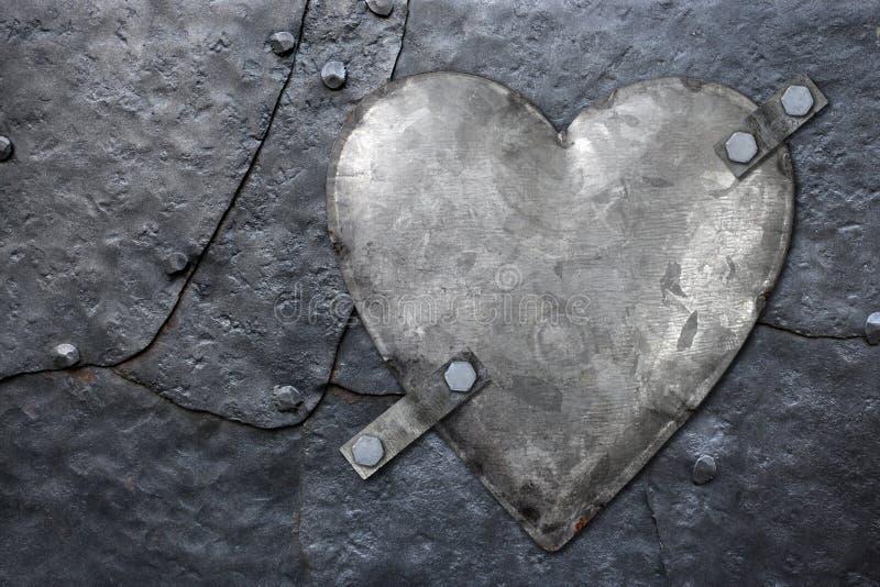 Coeur galvanisé en métal images stock