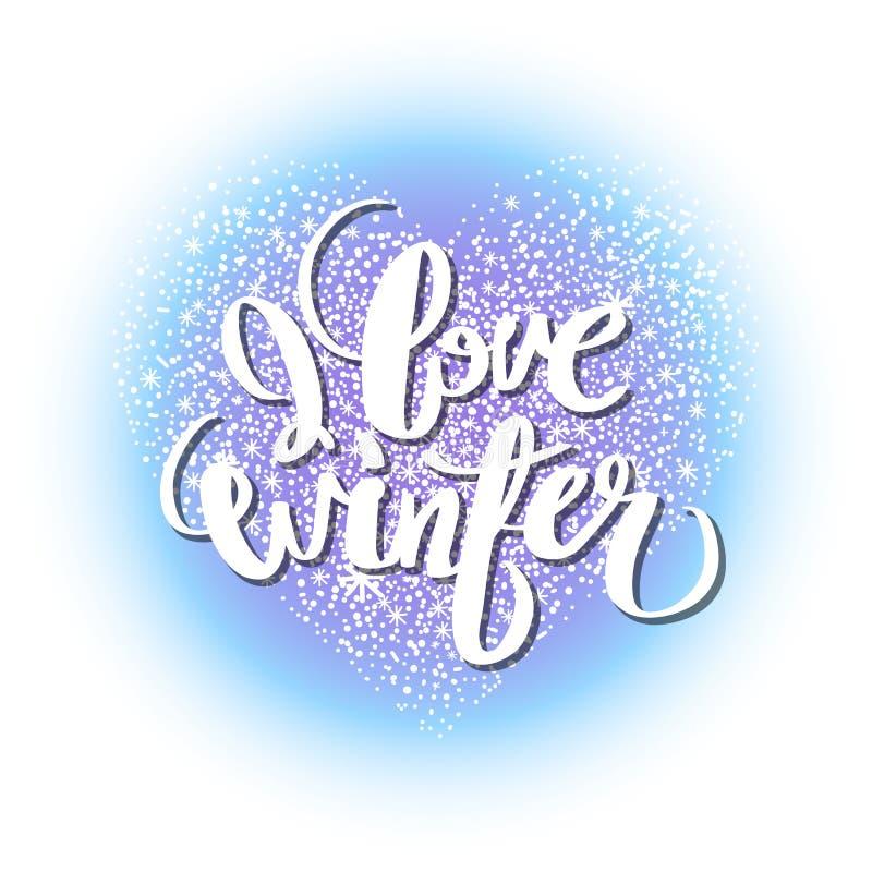 Coeur graphique d'hiver illustration stock