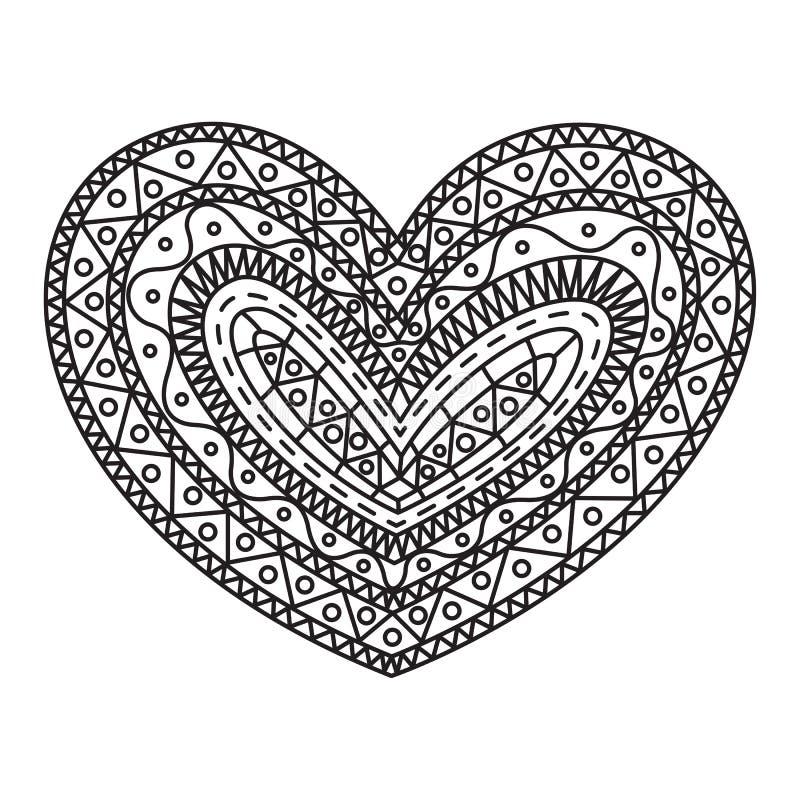 Coeur graphique de griffonnage, vecteur illustration de vecteur