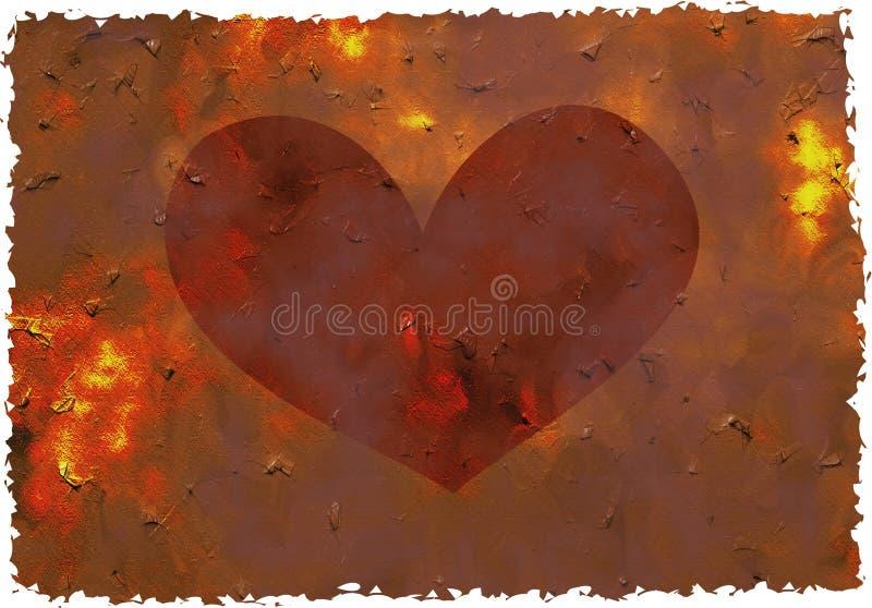 Coeur grunge illustration libre de droits