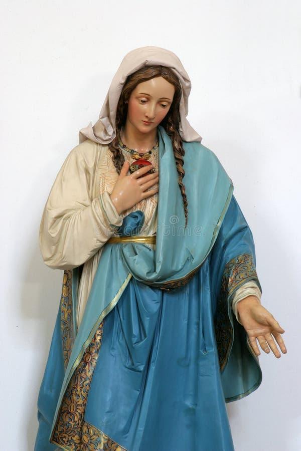 Coeur immaculé de Mary photos libres de droits