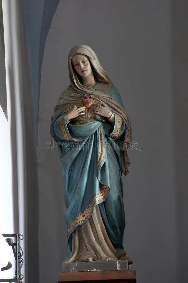Coeur immaculé de Mary image stock