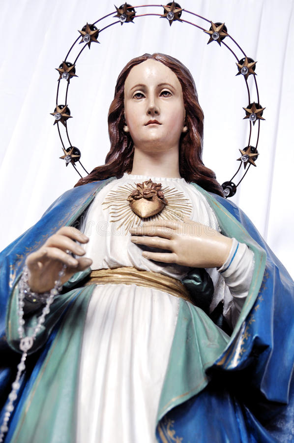Coeur immaculé de statue de Mary photo libre de droits