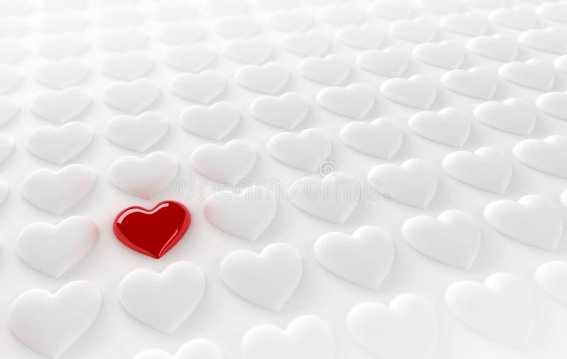 Coeur isolé illustration de vecteur