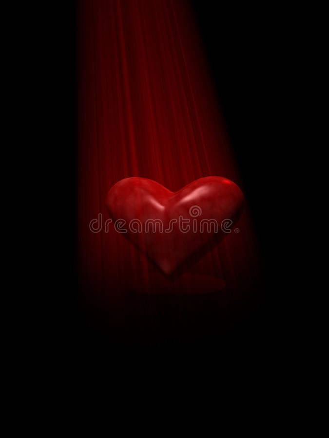Coeur léger image stock