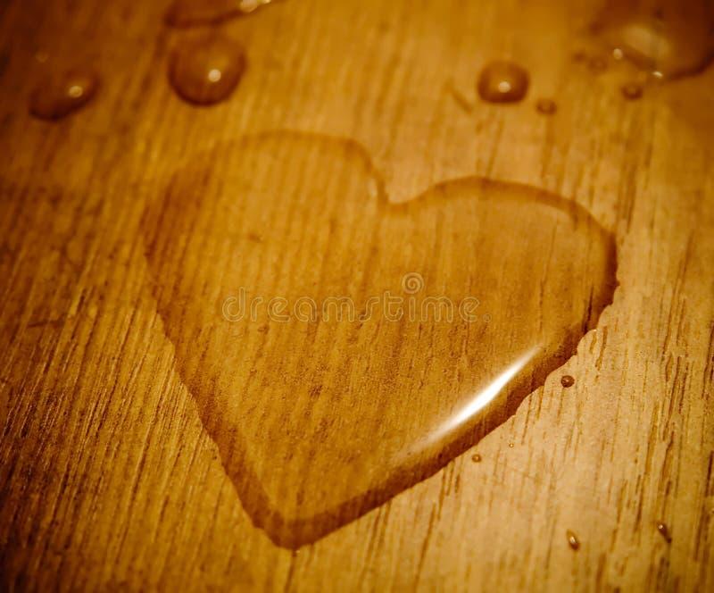 Coeur liquide photo stock