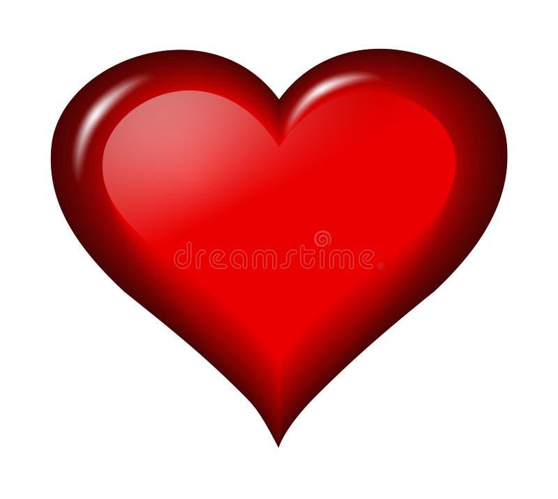 Coeur lustré illustration libre de droits