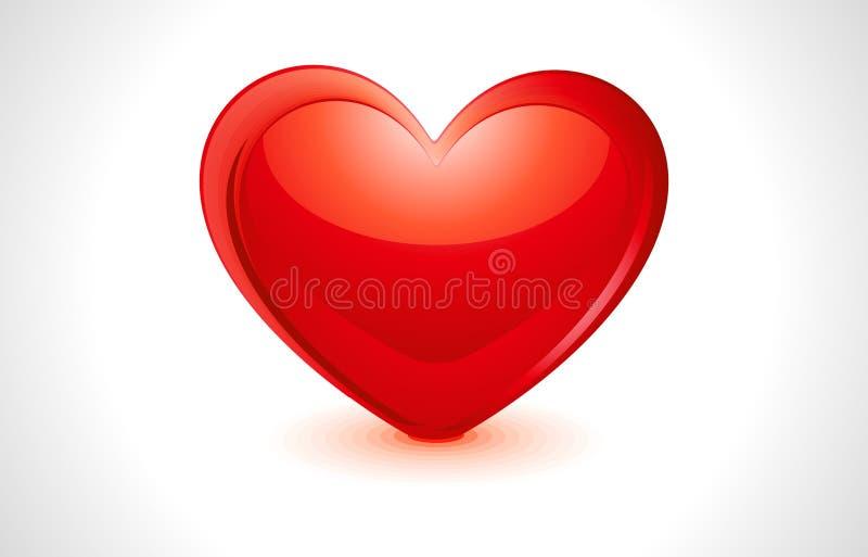 Coeur lustré abstrait illustration libre de droits