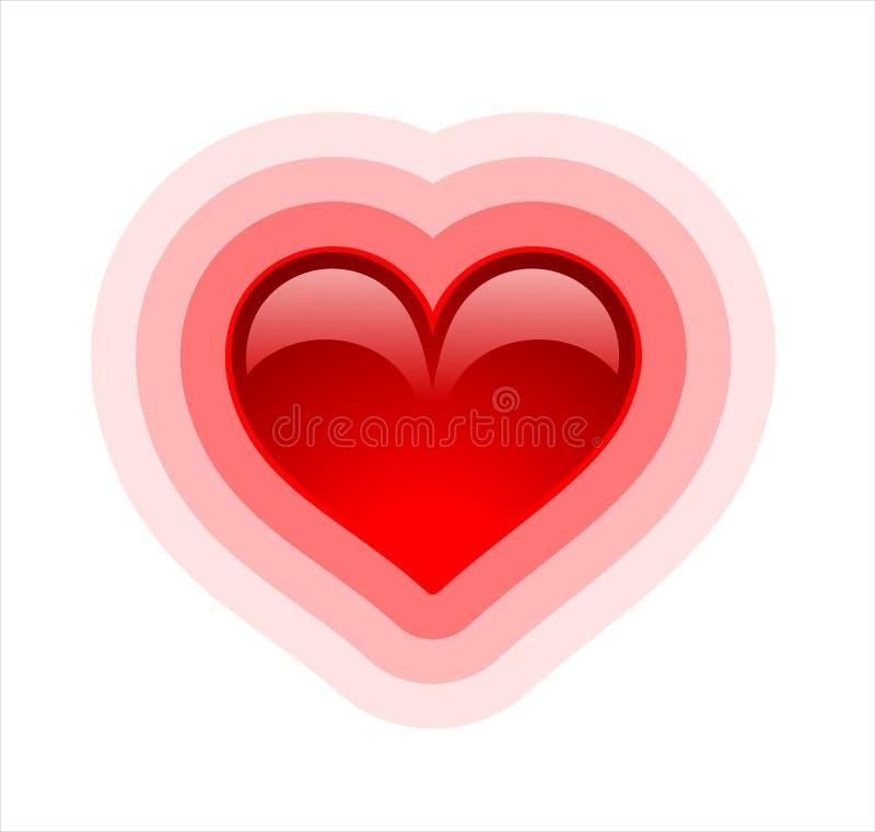 Coeur lustré sur blanc, variante 1 illustration stock