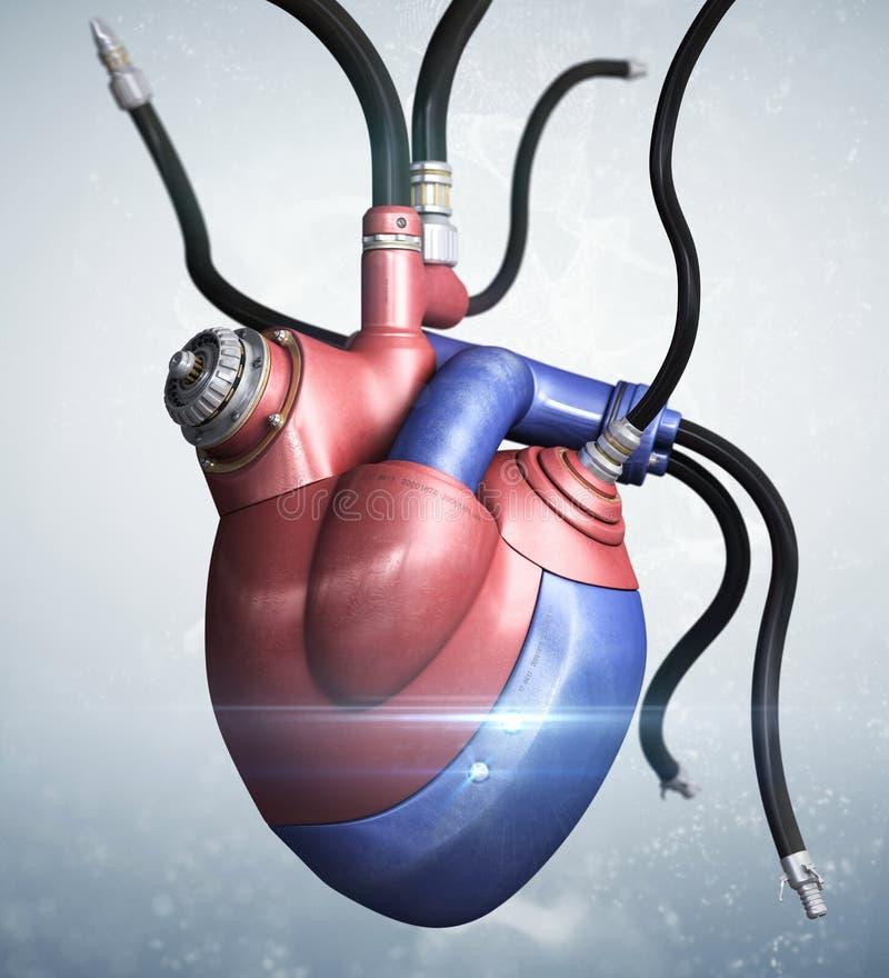 Coeur mécanique illustration de vecteur
