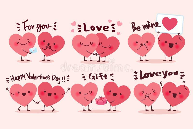 Coeur mignon de dessin animé illustration stock