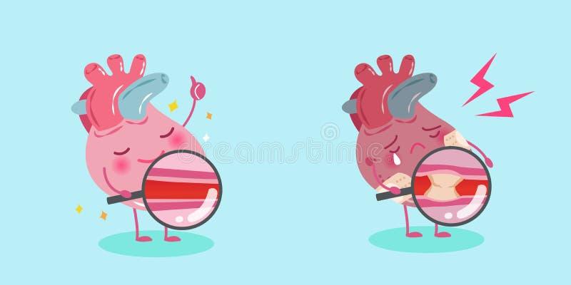 Coeur mignon de dessin animé illustration libre de droits