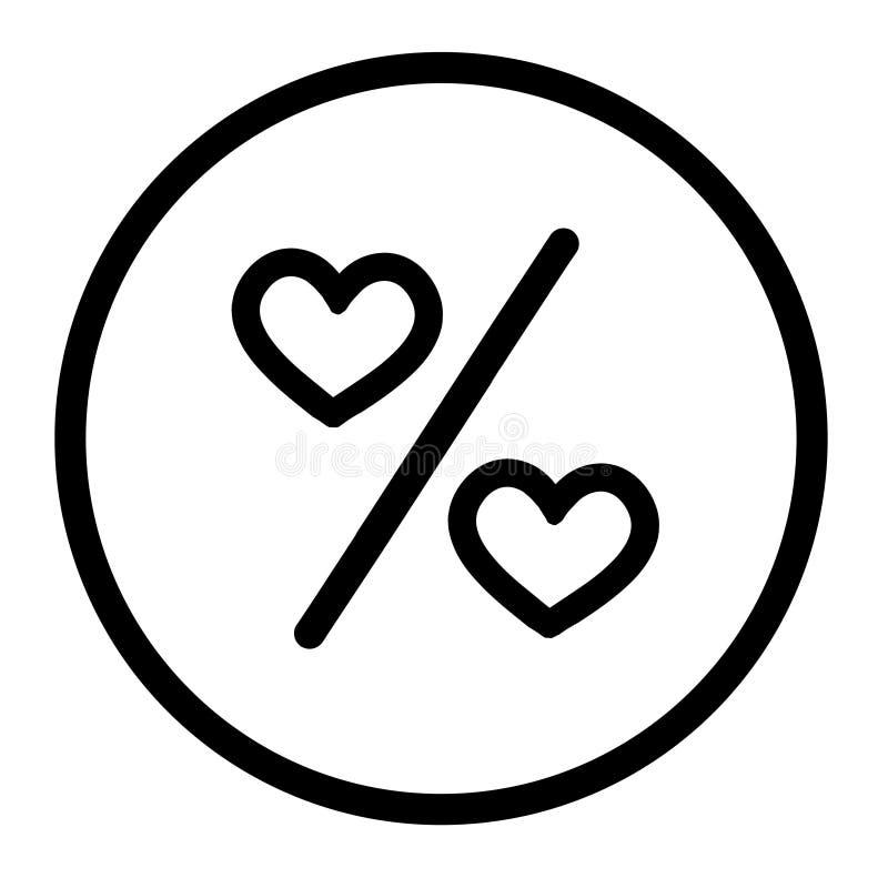 Coeur noir d'icônes de vecteur illustration libre de droits