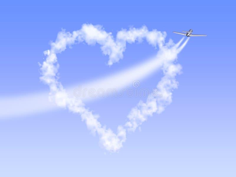 Coeur-nuage illustration stock