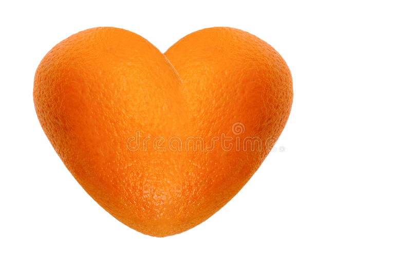 Coeur orange photo libre de droits