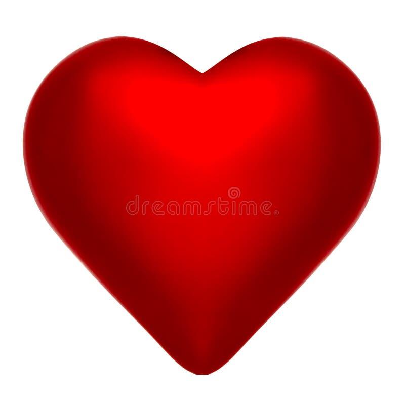 Coeur parfait de rouge cramoisi images stock