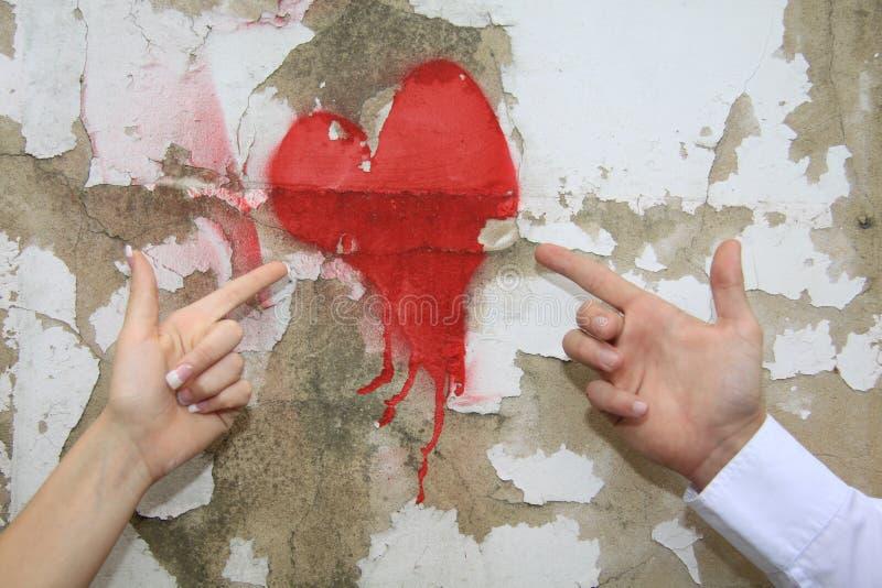 Coeur peint image libre de droits