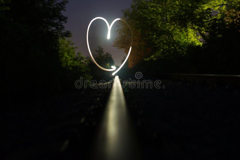 Coeur peint avec la lumière Freezelight images stock