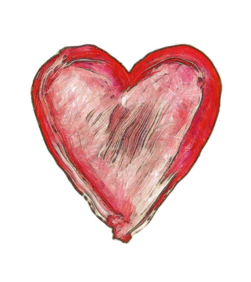 Coeur peint - symbole de l'amour illustration libre de droits