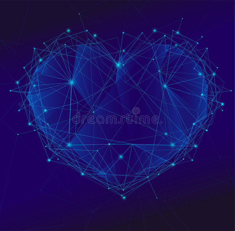 Coeur polygonal illustration libre de droits