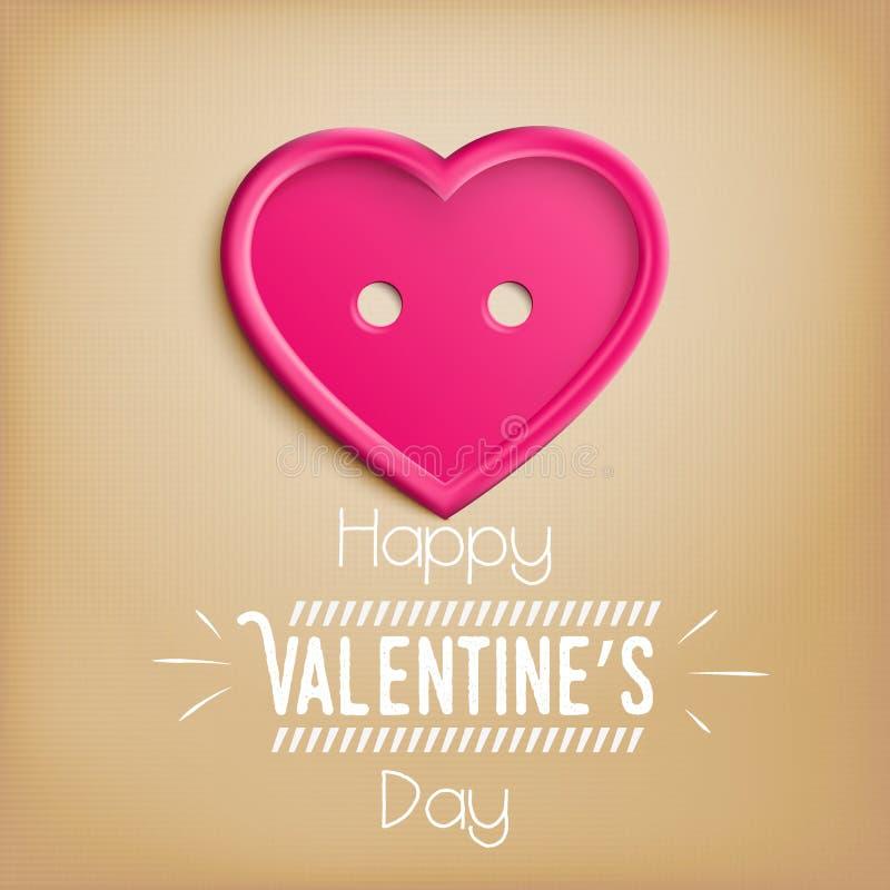 Coeur pour la Saint-Valentin (14 février) illustration de vecteur