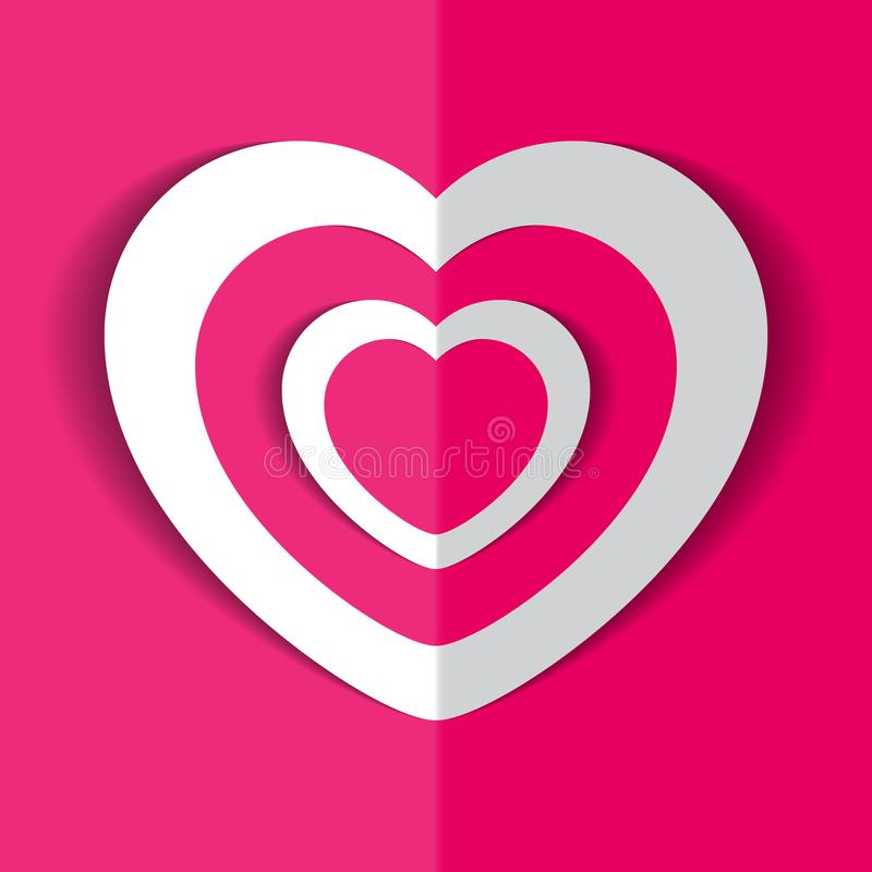 Coeur pour le jour du ` s de Valentine photographie stock