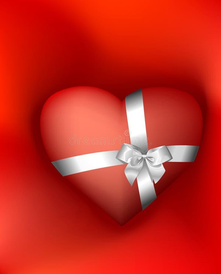 Coeur pour un cadeau photographie stock libre de droits