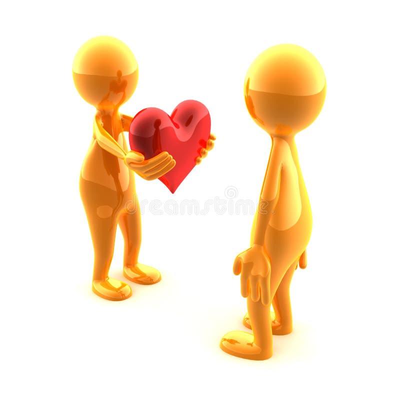 Coeur pour vous illustration stock