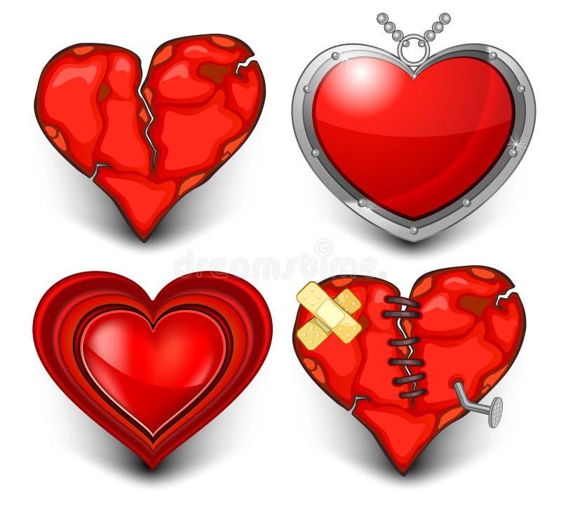 Coeur quatre illustration libre de droits