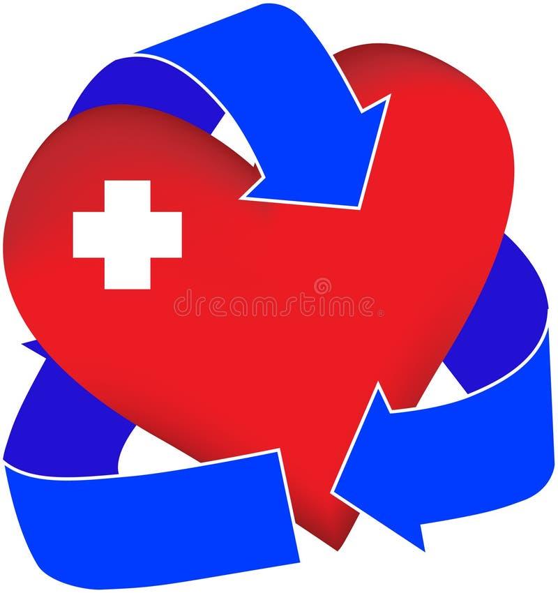Coeur réutilisé illustration de vecteur