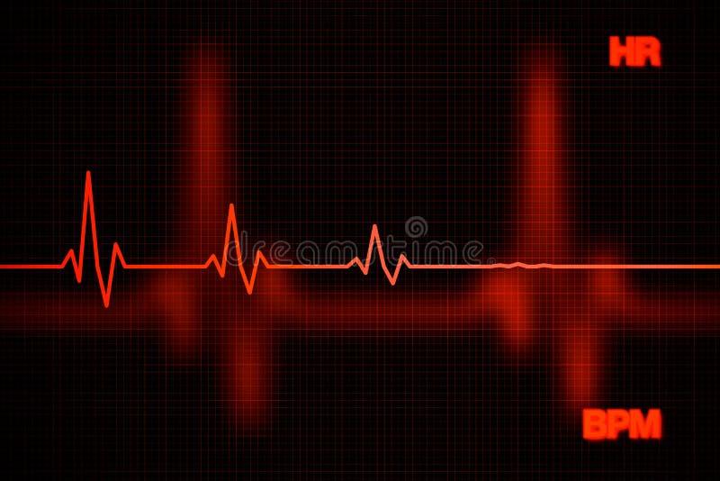 Coeur Rate Graph Background d'échec photo stock