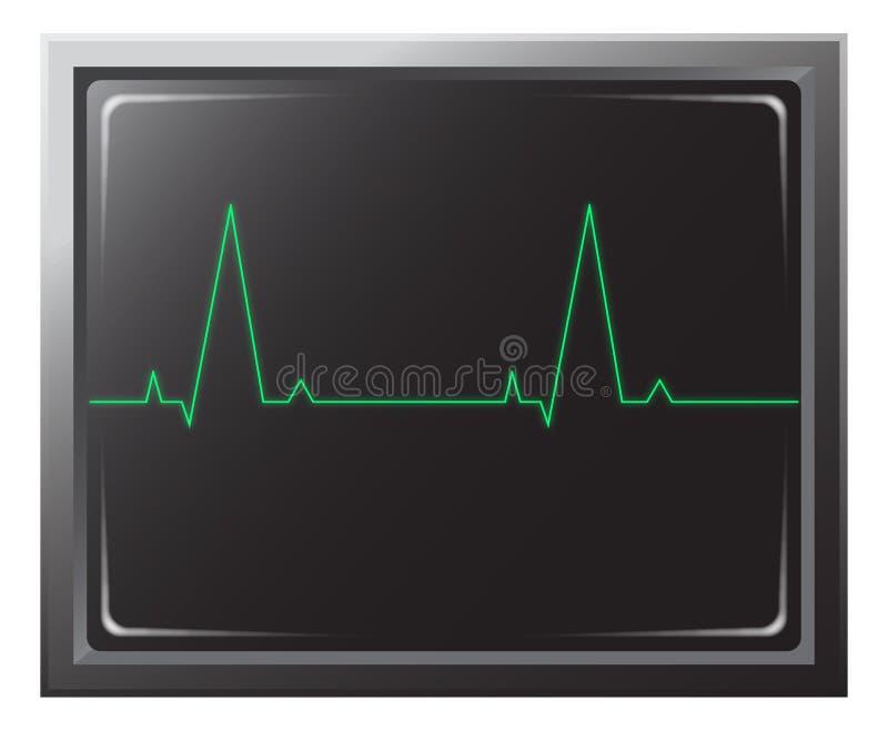 Coeur Rate Monitor illustration de vecteur