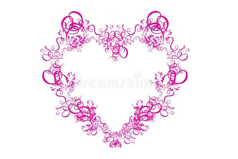 Coeur rose abstrait sur le fond blanc illustration de vecteur