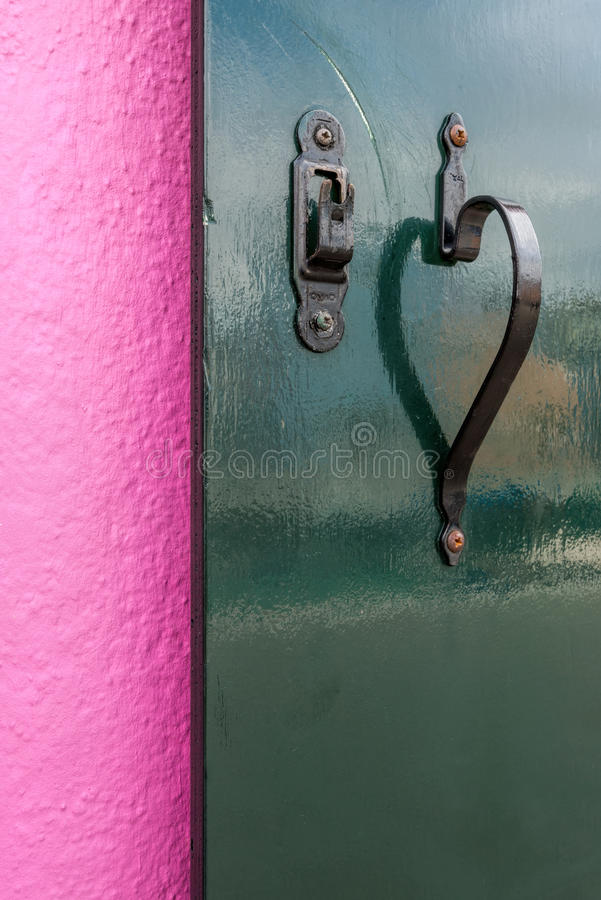 Coeur rose et vert photo libre de droits