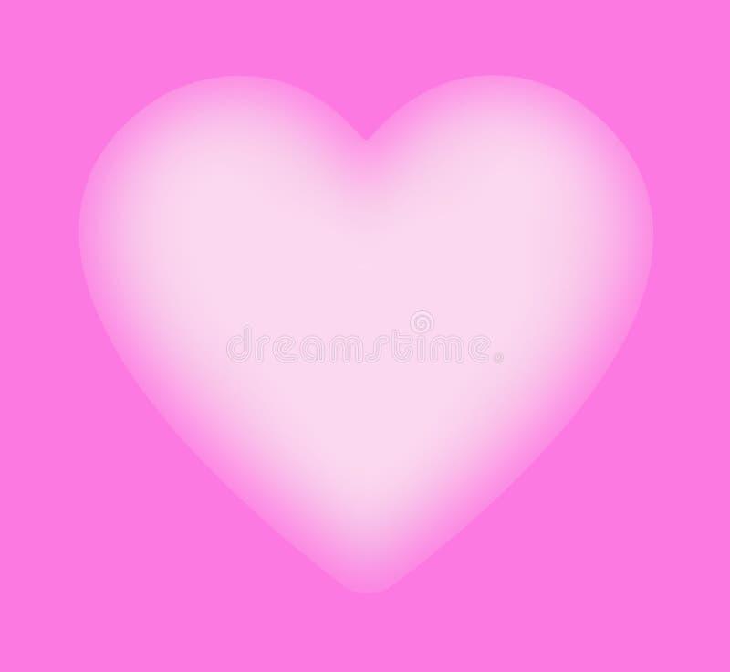 Coeur rose mou, fond illustration stock