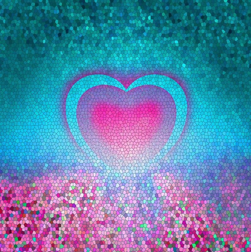 Coeur rose sexy romantique de mosaïque de valentine illustration stock