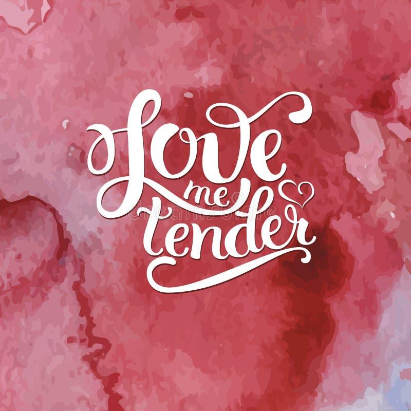 Coeur rose tiré par la main avec le lettrage illustration libre de droits