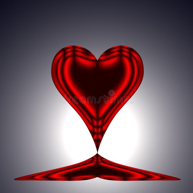 Coeur rouge 3 image stock