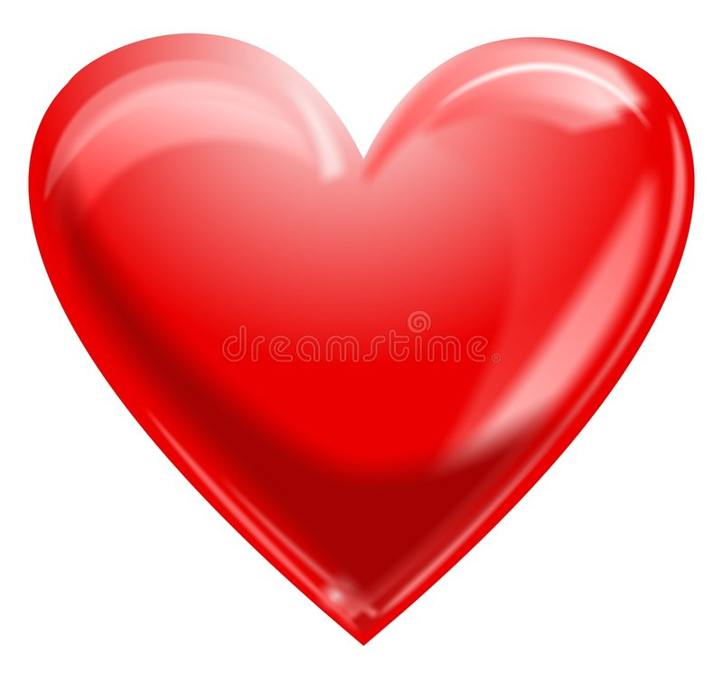 Coeur rouge illustration stock