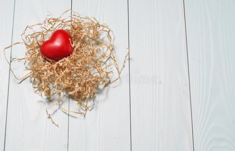 Coeur rouge décoratif images libres de droits