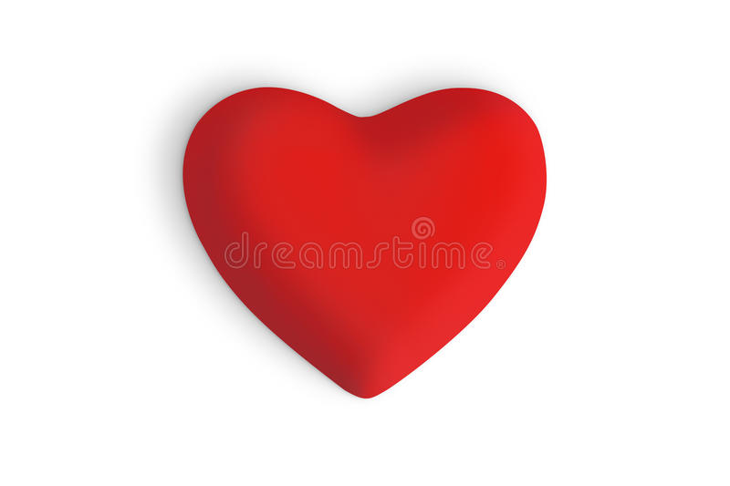Coeur rouge d'amour photographie stock