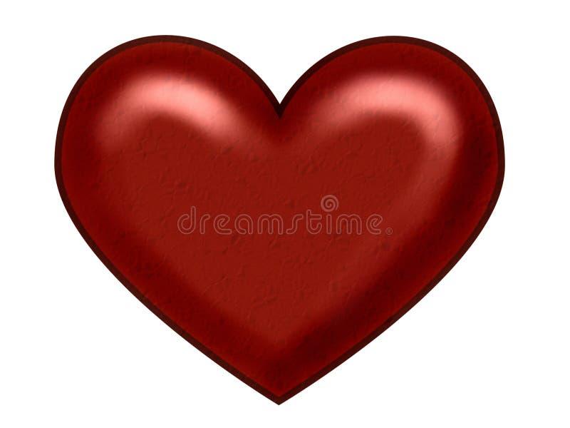 Coeur rouge de Noël illustration de vecteur