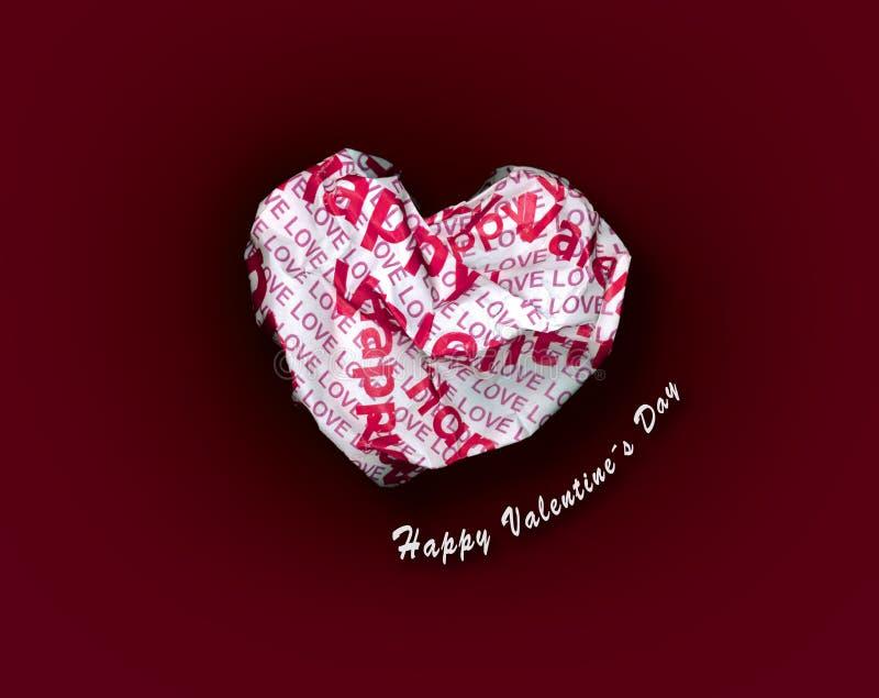 Coeur rouge de papier sexy de valentine avec le texte blanc illustration libre de droits