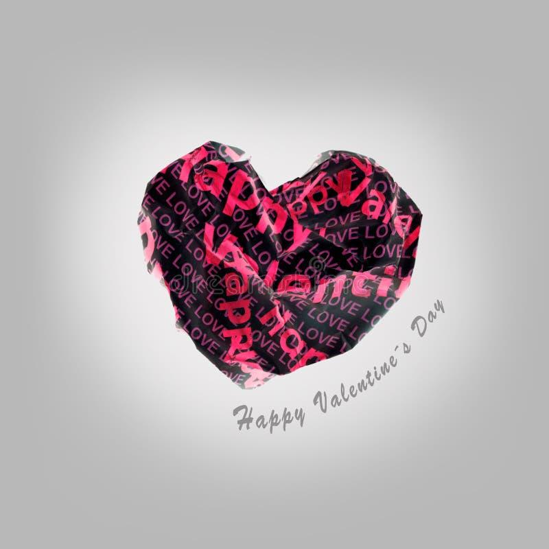 Coeur rouge de papier sexy de valentine sur le fond gris images libres de droits