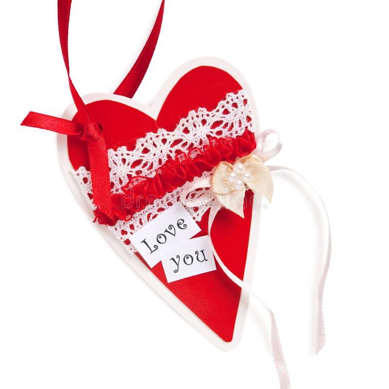 Coeur rouge de PPaper pour la Saint-Valentin images stock