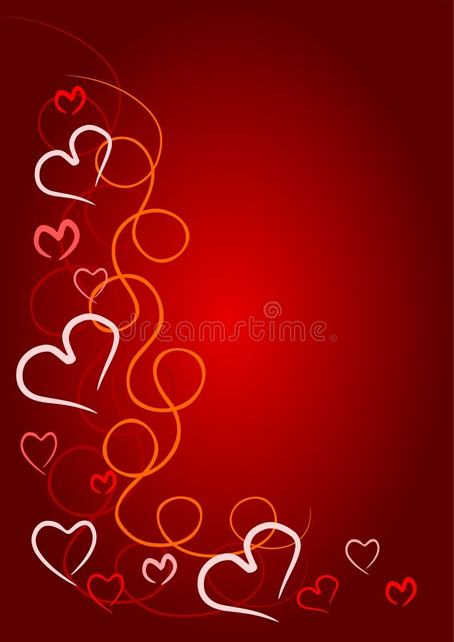 Coeur rouge de Valentine illustration libre de droits