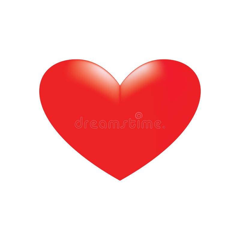 Coeur rouge sur un fond blanc image stock