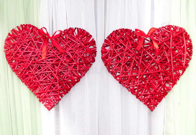 Coeur rouge tress comme d coration de mariage images - Decoration coeur rouge ...