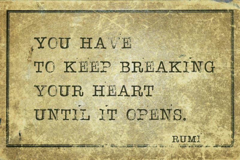 Coeur Rumi de coupure illustration libre de droits