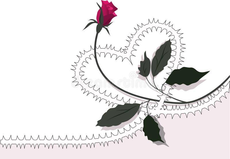 Coeur-s'est levé illustration de vecteur